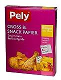 66pezzi pely® Cross & Snack, formato 38X 42cm. klimafreundlich.1scatola con 11confezioni. Ogni confezione con 6fogli pely® Cross & Snack.