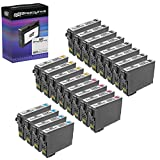 Speedy Inks Remanfactured Ink Cartridge Replacement for Epson 220XL High-Yield (8 Black, 4 Cyan, 4 Magenta, 4 Yellow, 20-Pack)