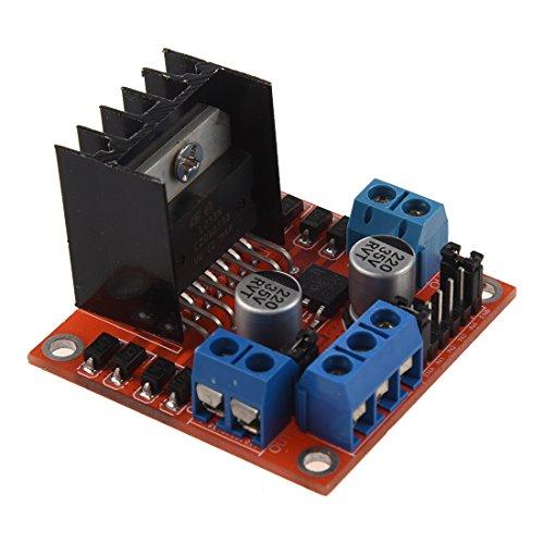 TOOGOO Modulo de placa de controlador de accionamiento de motor paso a paso CC L298N para puente Arduino Dual H