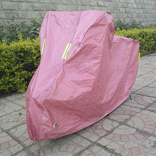 M-YN Bicyclette Couverture en Nylon Robuste antipoussière vélo Housse étanche for VTT, Route Protection vélo Garage Extérieur/Intérieur (Color : Pink)