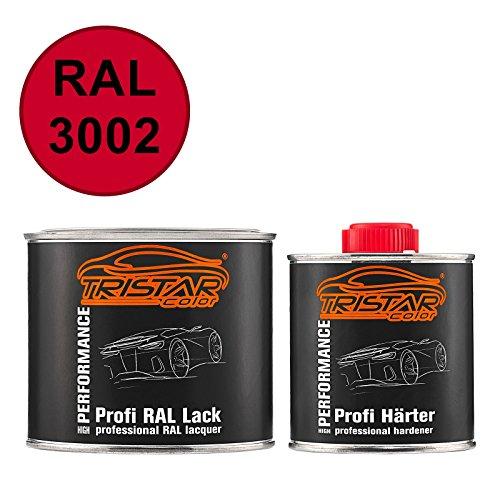 TRISTARcolor RAL 3002 Karminrot seidenmatt 2K Autolack 0,75 Liter / 750 ml Dose inkl. Härter