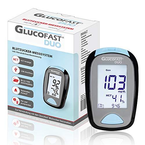 Glucofast Duo Blutzucker-Messsystem mg/dL - Blutzucker- HCT-Messung in einem Gerät