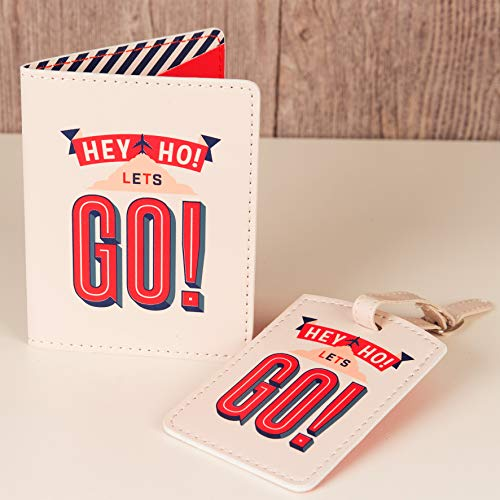 WB Passport Cover And Luggage Tag Travel Set Men's Gifts