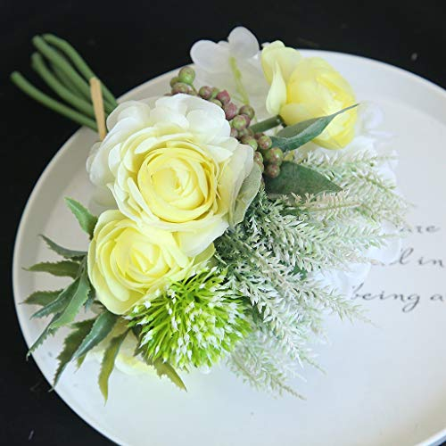Hunpta@ Künstliche Blumen Hortensie Pfingstrose Hochzeit Blumenstrauß Kunstblumen Blumenarrangement für Haus Büro Balkon Garten Party Valentinstag Dekoration