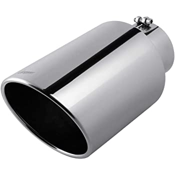 Universal Stainless Steel Diesel Exhaust Tailpipe Tip for Truck Cars 5 x 8 x 15 Bolt//Clamp On Design. 5 Inch Inlet Chromed Exhaust tip