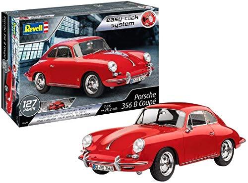 Revell RV07679 Der legendäre Oldtimer Porsche 356 Coupé zum Selberbauen, Automodellbausatz 1:16, 25 cm 10 REV-07679, rot, 1:16/25 cm
