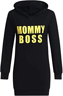 Matching Family Christmas Pajamas Mommy and Me Matching Crew Neck Long Sleeve Hooded Sweatshirt