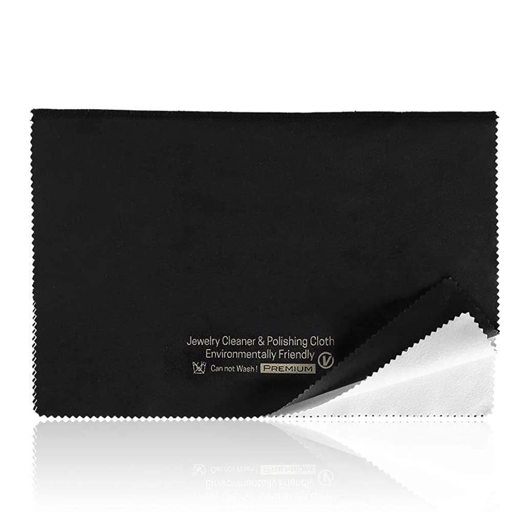 Jewelry Polishing Cloth for Silver/Gold/Platinum Cleaning -Soft and Recycled Microfiber Cloths,Jewelry Cleaner by VISEMAN