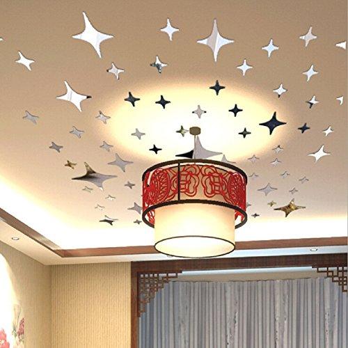 Espejo decorativo para pared, toifucos DIY acrílico 3d Espejo Pegatinas de Pared (–cuadro de pared de decoración para niños Dormitorio Salón Hogar Decoración mejor regalo