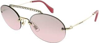 ميو ميو نظارة شمسية للنساء , دائري , متعدد الالوان