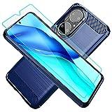 Cuoqing Funda para Huawei P50, P50, con protector de pantalla HD, TPU suave y delgado, a la moda, antideslizante, funda de teléfono a rayas para Huawei P50