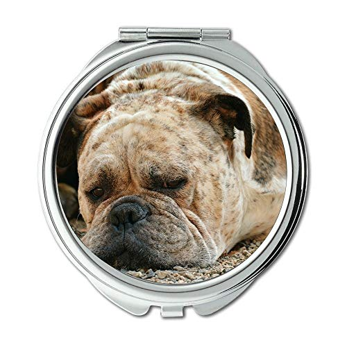 Yanteng Spiegel, Reise-Spiegel, Hundeboxer-Boxer-Hundehaustier-Blick Schnauze-Hundenase, Taschenspiegel, tragbarer Spiegel