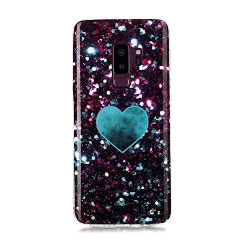 Karomenic Siliconen hoes compatibel met Samsung Galaxy S9 Plus Ultra Slim Thin Beschermhoes marmer patroon zachte TPU Telefoonhoes Schokbestendig Krasbestendig Schokbestendig Bumper Cover Bescherming Tas Schaal Marmor#8