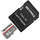 Tarjeta de memoria TF de 32 GB, BOYMXU TF tarjeta con adaptador, tarjeta UHS-I de alta velocidad Clase 10, tarjeta de memoria para teléfono cámara de ordenador, paquete de 2