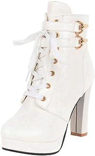 Amazon.es: botines plataforma - Cordones / Zapatos: Zapatos ...