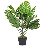 Dawsons Living Monstera Fern Palm Tree - Artificial Indoor and Outdoor Plant with Pot - 80cm