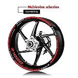 Anhuidsb Rueda de la motocicleta Llantas reflexiva etiquetas de neumáticos Logo Adhesivos Moto decorativo Set de accesorios for Kawasaki Z1000 (Color : XT LQ Z1000 RED)