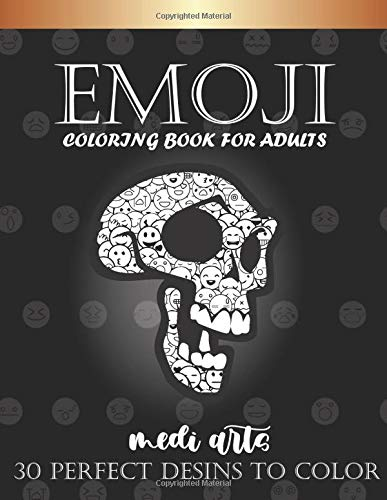 EMOJI - coloring book for adults: skul & more designs / +30 designs / Composition Size (8.5