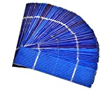 AOSHIKE 50pcs Solar Cells for Solar Panels Polycrystalline Silicon Micro Mini Solar Panel Cell DIY Charger Battery 0.5V 0.5A 78x19mm/3x0.75inches