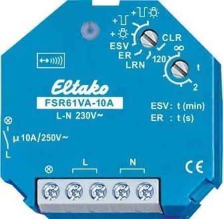 Eltako Funkaktor Stromstoß-Schaltrelais mit Strommessung Nicht potenzialfrei 10A/250V AC, 1 Stück, FSR61VA-10A
