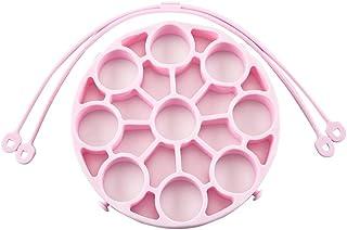 Yudesun Multifunction Egg Steamer - Reusable Silicone Vegetable Food Steamer Adjustable Sling Portable 9 Holes Egg Rack An...