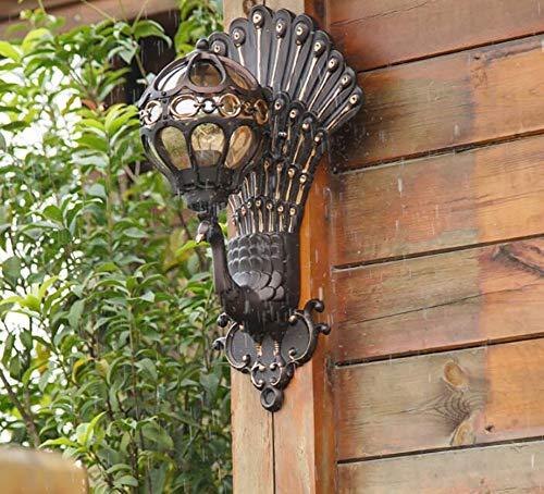 wasserdichte Wandleuchte im europäischen Stil wasserdichte Gartenlampe im Freien Pfau Retro kreative Außenwandleuchte im Freien