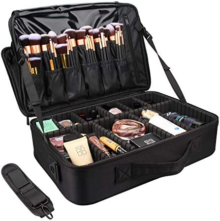 MONSTINA Cosmetic Bags 3 Layer Cosmetic Organizer Makeup Case Beauty Artist Storage Brush Box product image