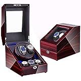 Zatnec Caja de Relojes autornaticos 2+3 Watch Winder de Cuero PU Super Silencioso Caja Organizadora de Relojes Hombre Mujer (Size : F)