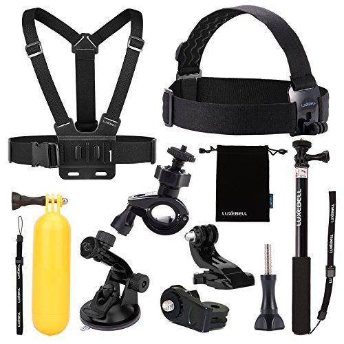 Luxebell 9 in 1 Zubehör-Kit für Sony Action Cam HDR-AS15 / 20 / 30V / 100V / 200V - Sony Action Cam HDR-AZ1 Mini Sony FDR-X1000V / W