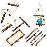 9 teiliges Vogelkäfig Zubehör Set für Wellensittich & Co. Für die besondere artgerechte Vogelhaltung