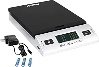 Acteck A-CK65BS 65LBx0.1OZ Digital Shipping Postal Scale with Batteries and AC Adapter, Black Silver