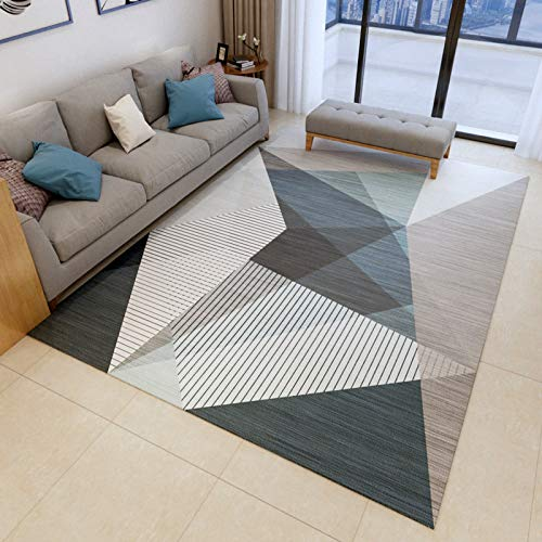 NF Alfombra grande, diseño geométrico 3D nórdico, rectangular, alfombra de salón, dormitorio, alfombra antideslizante, alfombra pequeña, 50 x 80 cm