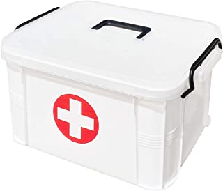 ProductA 救急箱 薬箱 収納ボックス 大容量 33×24×19cm(M)