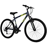 Huffy Hardtail Mountain Bike, Stone Mountain 24 inch 21-Speed, Lightweight, Dark Blue