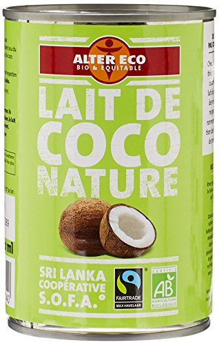 Alter Eco Lait de Coco Nature Bio et Equitable 40 cl
