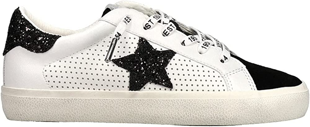 VINTAGE HAVANA Womens Millbrooke Perforated Lace Up Sneakers Shoes Casual - Black,White