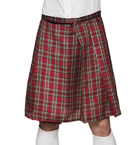 Boland 81224 - Schottenrock Mr. Tartan für Männer, mit Sicherheitstasche, Kilt, Karorock, knielanger Rock, Wickelrock, Kostüm, Schottland, Motto Party, Karneval
