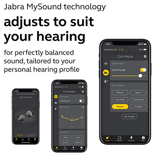Jabra Elite Active 75t True Wireless Bluetooth Earbuds, Navy – Wireless Earbuds for Running and Sport, Charging Case Included, 4th Generation, 28 Hour Battery, Sport Earbuds