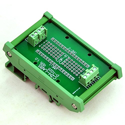 Electronics-Salon DIP-8 Component to Screw Terminal Adapter Board, w/HQ DIN Rail Mount Carrier.