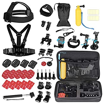 EMART 53-in-1 Action Camera Accessories Kit Accessory Bundle Set for GoPro Hero Session Fusion 9 8 Max 7 6 5 4 3 3+ 2 1 Black Accessories Insta360 DJI Osmo Action AKASO APEMAN Campark Xiaomi Yi
