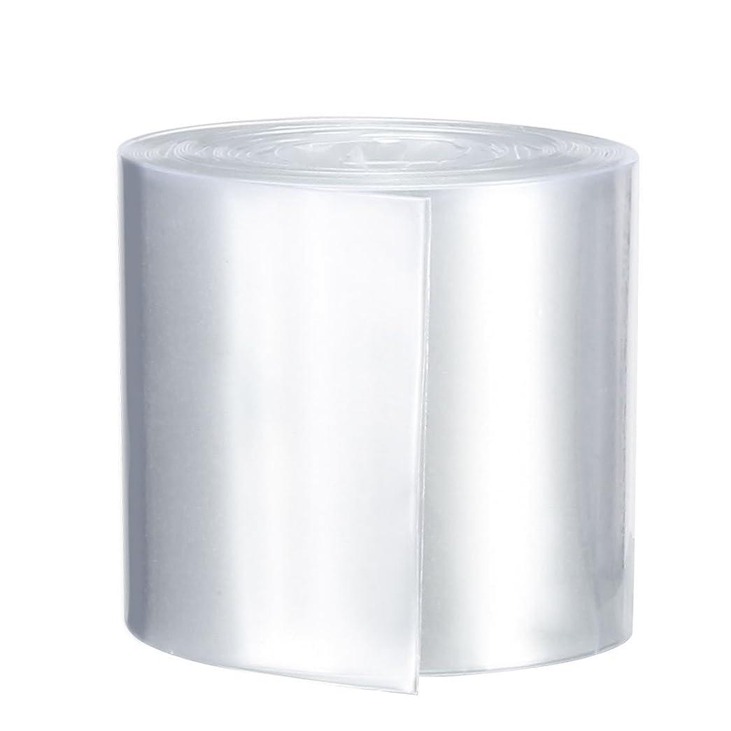 年齢マーベル刈るuxcell PVC熱収縮チューブ シングル18650シュリンクフィルム用 フラット幅29.5mm 長さ2M クリア