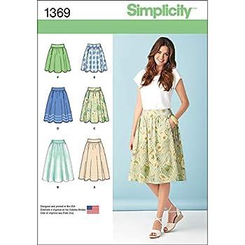 Simplicity 1369 Women s Skirt Sewing Pattern Sizes 14-22