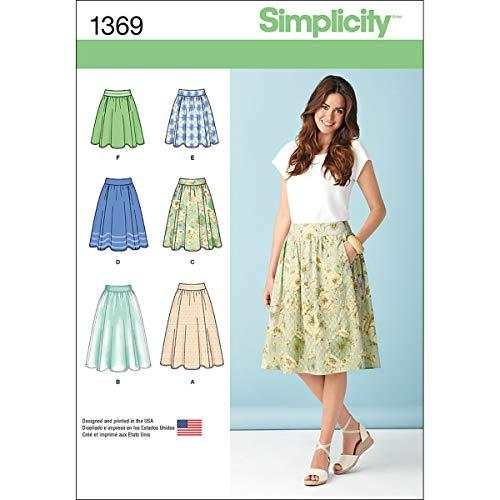 Simplicity 1369 Schnittmuster für Damenrock, Größen 42-50