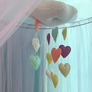 Jewelry - Mosquito Net, Cotton Cloud Heart Pendant Children Bedroom Nursery Ceiling Wall Hanging Decor - Multicolor,Colou...