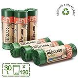 Relevo Sacchi Spazzatura 100% riciclati, 30 litri, 120 unità...