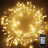 100-1000 LED String Fairy Lights on Clear Cable with 8 Light Effects, Low Voltage Transformer Included, Ideal for Christmas, Xmas, Party,Wedding (500 LEDs, Warm White)