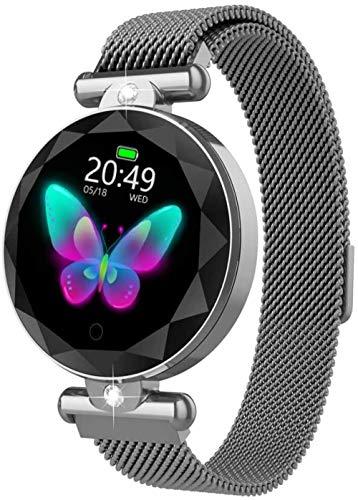 hwbq Reloj inteligente Bluetooth para mujer IP67 impermeable con pantalla táctil completa de 1,08 pulgadas, monitor de actividad con pantalla