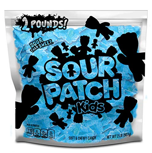 SOUR PATCH KIDS Blue Raspberry Soft & Chewy Candy, 2 lb Bag