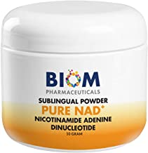 NAD Supplement Nictotinamide Adenine Dinucleotide.Pure NAD Powder Supplement Sublingual. Bioavailable Anti-Aging Formula N...