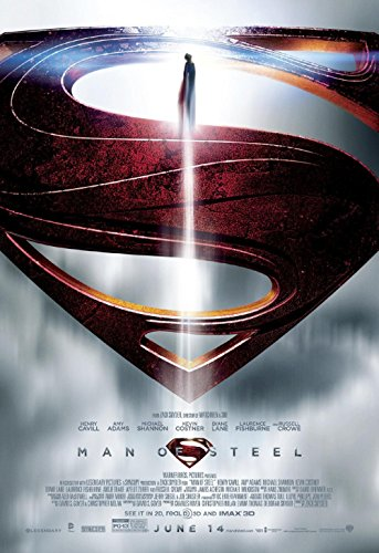 Man of Steel movie poster family silk wall print 36 inch x 24 inch